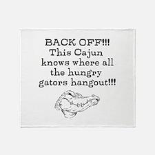 Hungry Gators Throw Blanket