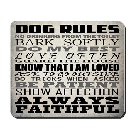 MOUSEPAD - Dog Rules