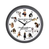 Dog clock Wall Clocks