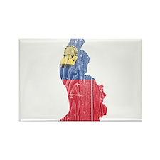 Liechtenstein Flag And Map Rectangle Magnet