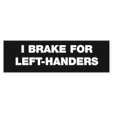 I BRAKE FOR LEFT-HANDERS sidecar sticker