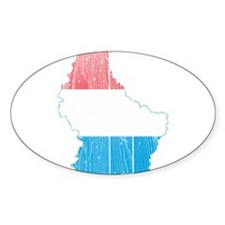 Luxembourg Flag and Map Wood.png Decal