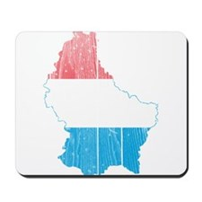 Luxembourg Flag and Map Wood.png Mousepad