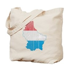 Luxembourg Flag and Map Wood.png Tote Bag