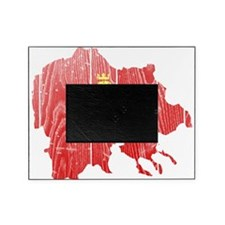 Macedonia Lion Flag And Map Picture Frame
