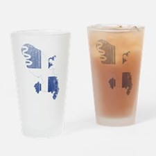 Martinique Flag and Map Wood.png Drinking Glass