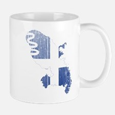 Martinique Flag and Map Wood.png Mug