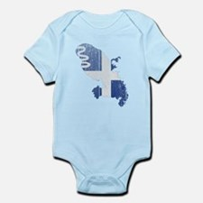 Martinique Flag and Map Wood.png Infant Bodysuit