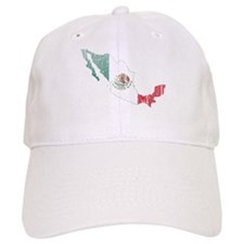 Mexico Flag And Map Cap