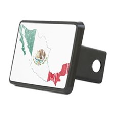Mexico Flag And Map Hitch Cover