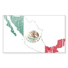 Mexico Flag And Map Decal
