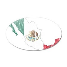 Mexico Flag And Map Wall Decal