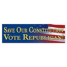 Save Our Constitution Vote Republican! Bumper Sticker