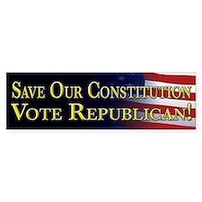 Save Our Constitution Vote Republican! Bumper Stickers