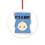 IT'S A BOY Ornament (Round)