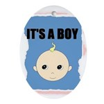 IT'S A BOY Oval Ornament