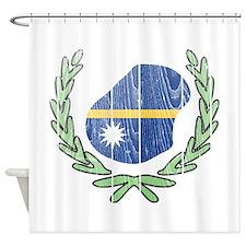 Nauru barn star Flag and Map Wood.png Shower Curta