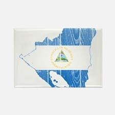 Nicaragua Flag And Map Rectangle Magnet
