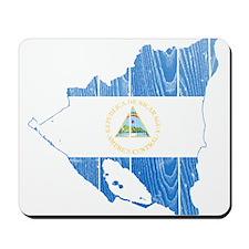 Nicaragua Flag And Map Mousepad
