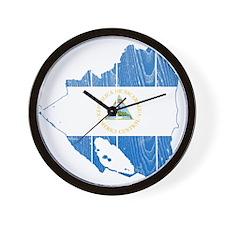 Nicaragua Flag And Map Wall Clock