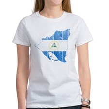 Nicaragua Flag And Map Tee