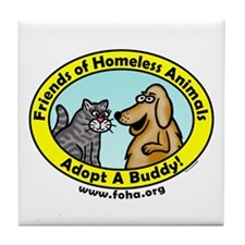 Friends of Homeless Animals Tile Coaster