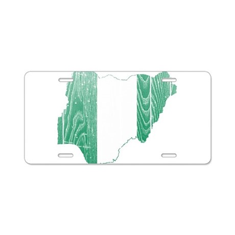 Nigeria Flag And Map Aluminum License Plate