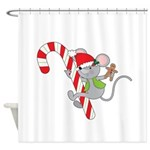 Candy Cane Mouse Shower Curtain