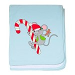 Candy Cane Mouse baby blanket