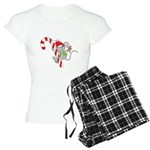 Candy Cane Mouse Women's Light Pajamas