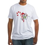 Candy Cane Mouse Fitted T-Shirt