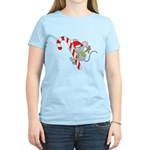 Candy Cane Mouse Women's Light T-Shirt