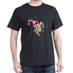 Candy Cane Mouse Dark T-Shirt