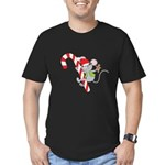 Candy Cane Mouse Men's Fitted T-Shirt (dark)