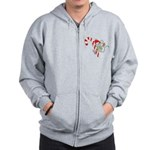 Candy Cane Mouse Zip Hoodie