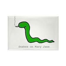 Snakes on Maryjane Rectangle Magnet