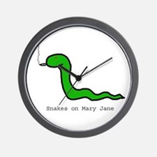Snakes on Maryjane Wall Clock