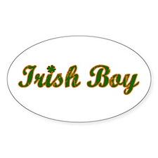 Irish Boy Oval Decal