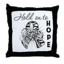 Carcinoid Cancer Hope Throw Pillow