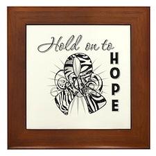Carcinoid Cancer Hope Framed Tile