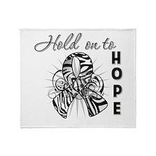 Carcinoid Cancer Hope Throw Blanket
