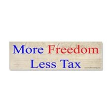 More Freedom Less Tax Car Magnet 10 x 3