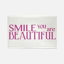 Smile you are Beautiful, Fuchsia Rectangle Magnet