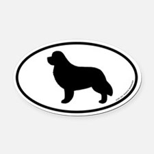 Newfoundland Oval Car Magnet