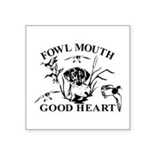 "LAB GOOD HEART Square Sticker 3"" x 3"""