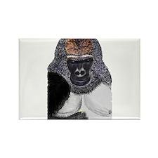 African Mountain Gorilla Rectangle Magnet