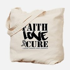 Faith Cure Carcinoid Cancer Tote Bag