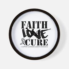 Faith Cure Carcinoid Cancer Wall Clock