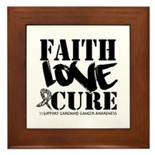 Faith Cure Carcinoid Cancer Framed Tile