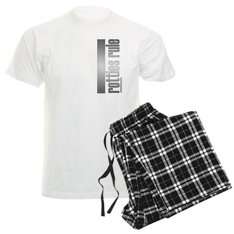 Rottweiler Rotties Rule Men's Light Pajamas